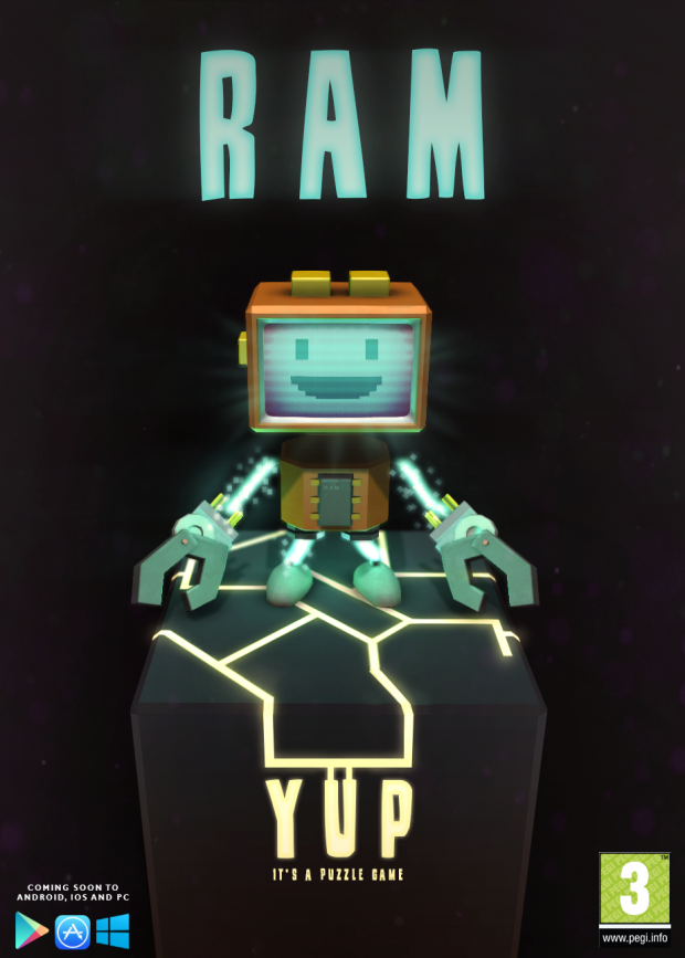 RAM! Yup, It's a Puzzle Game! Poster!