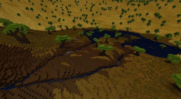Man Made Lake and River