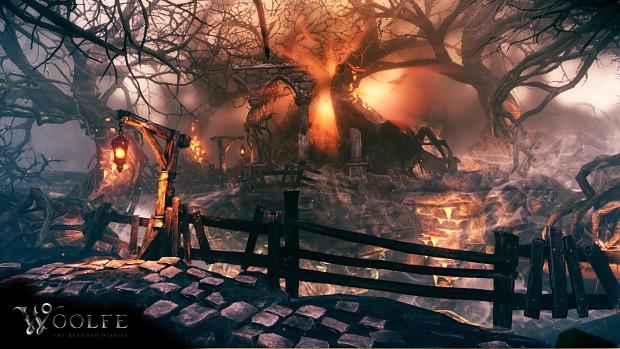 Dark Forest Environment Screenshot