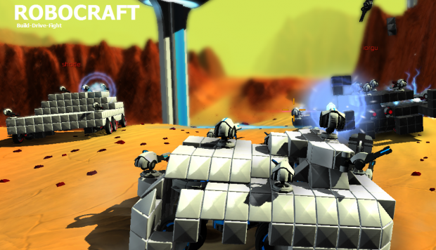Some user generated screenshots of Robocraft