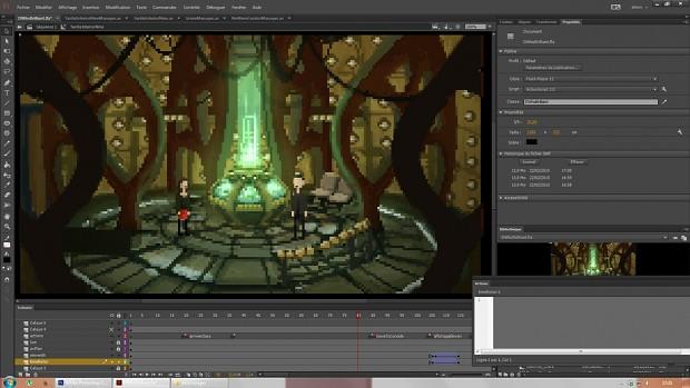 Working on the last scenes...