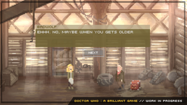 Doctor Who Brilliant Game : Dialog System