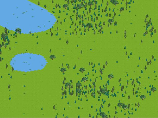Adding forests, lakes and bushes