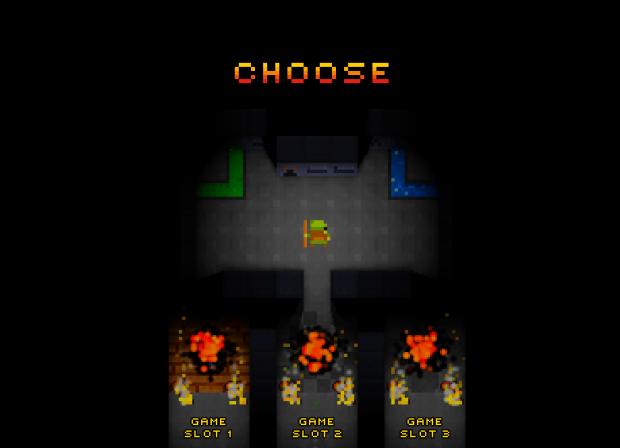 In-game main menu