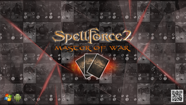 SpellForce 2 - Master of War Wallpaper - Scatterd Logo
