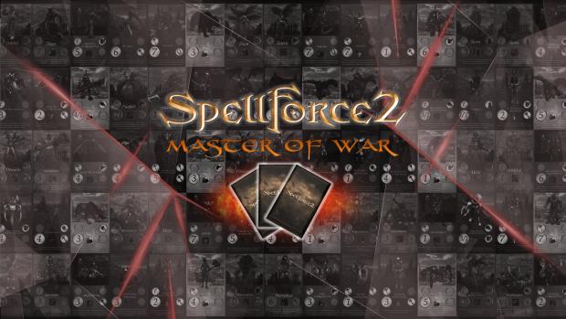 SpellForce 2 - Master of War Wallpaper - Scatterd Logo