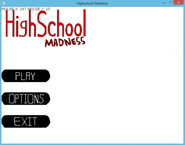 Screenshot of my main menu