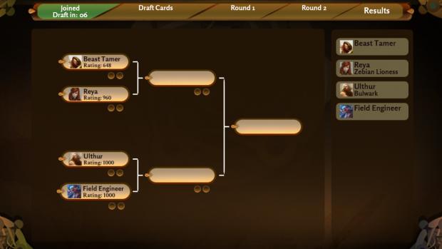 Draft Tournament Screenshot