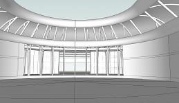 The Hughes Geist R & D Facility Atrium