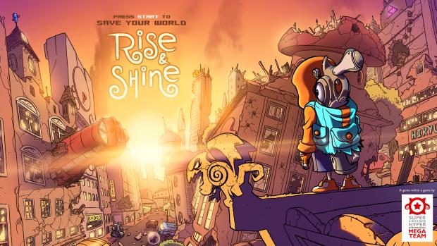 Rise & Shine opening screen.