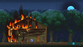 Cabin Fire Wallpaper 1920x1080