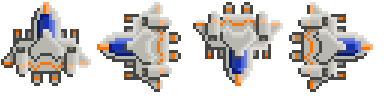 Base space ship spritesheet