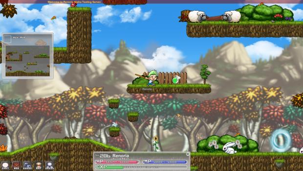 Screenshot of a forest map