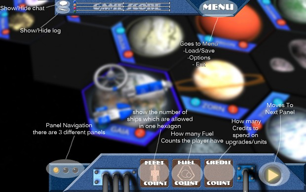 Overview of the game UI