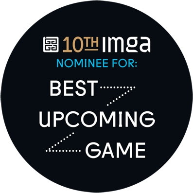 "Roll Back Home ""BEST UPCOMING GAME"" IMGA Badge"