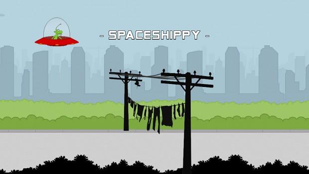 Startscreen of Spaceshippy!
