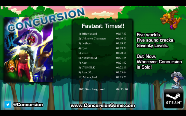Concursion Free Demo Leaderboard