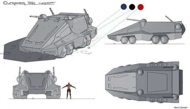 Outrider Tank Concept Art