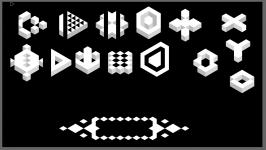 Trixel based UI Elements