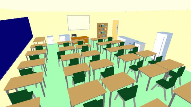 Schoolroom interior test image - The Hit - Indie DB