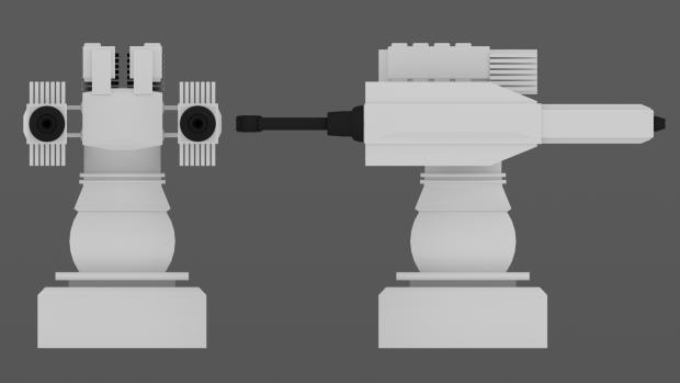 Dual Turret Low Tech Prop
