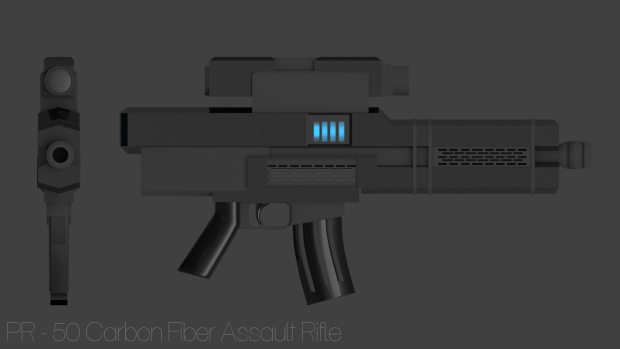 PR-50 Carbon Fiber Assault Rifle Prop