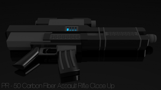 PR-50 Carbon Fiber Assault Rifle Display