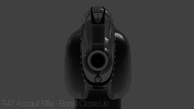 T-47 Assault Rifle - Barrel Close Up