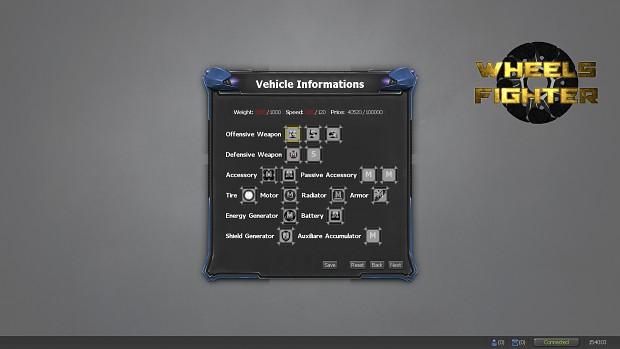 WheelsFighter v 0.1.6.1 : Vehicle inventory