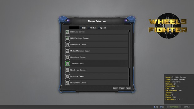 Items selection