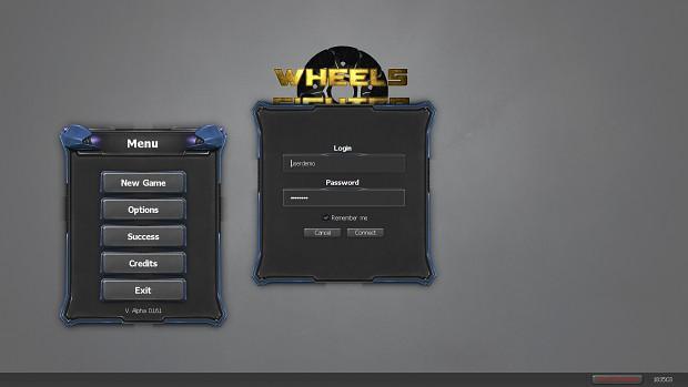 New login menu in 0.1.6.1