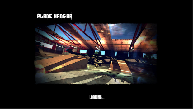 BMX Ride Loading screen plane hangar