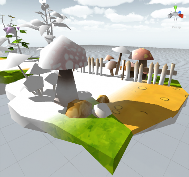 A part of a free asset with the Colorful's shaders