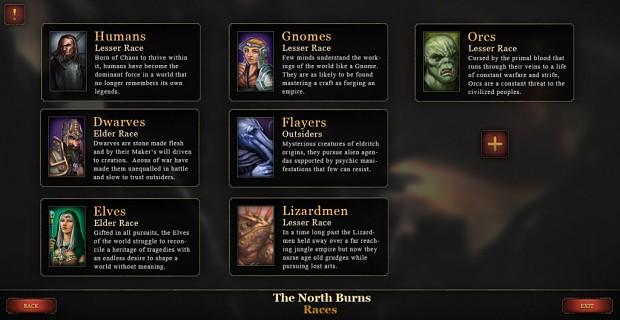 New Scenario and Mod Screens