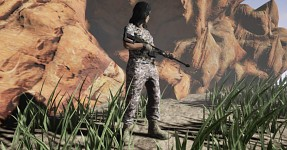 Sniper female soldier