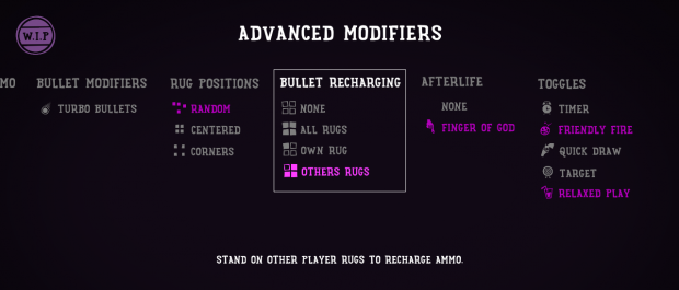 Advanced modifiers