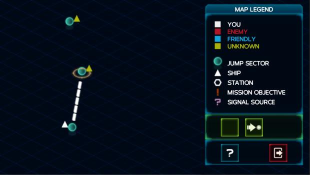 Galaxy map in Battlestation: Harbinger