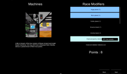 Race creation components