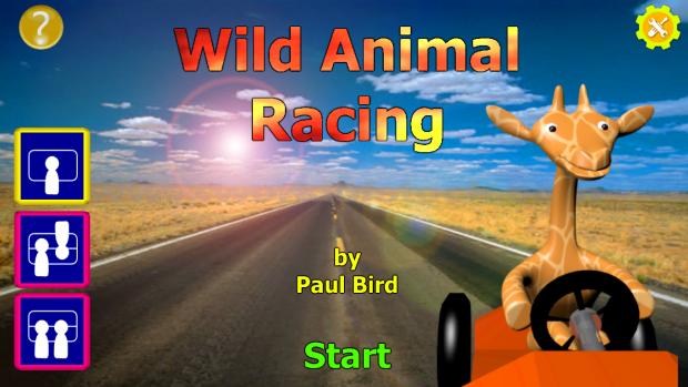 Wild Animal Racing - Title Screen