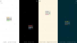 All four color schemes
