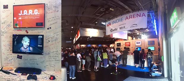Gamescom Indie Arena Booth