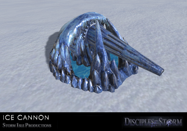 First Look of newly modeled & textured ice cannon