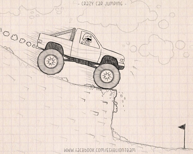 Crazy Car Jumping - Concept Sketch
