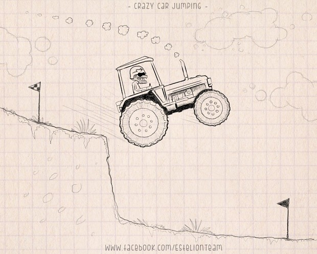 Crazy Car Jumping - Concept Sketch