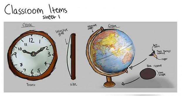 Design Concepts, Desk Globe, Clock
