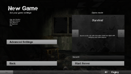Screenshot of the updated menu