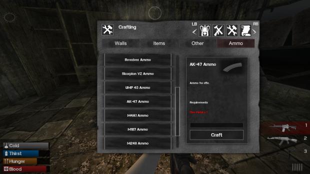 Ammo craft menu