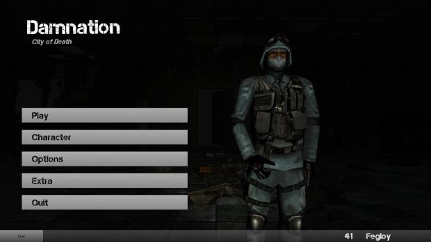Screenshot of the updated menu