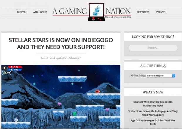 Stellar Stars - Featured On AGamingNation!