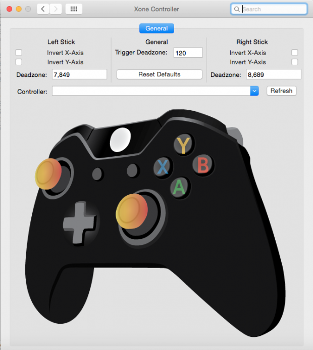 Starsss - The Game Controller's Settings